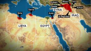 على الخريطة.. المناطق التي ينشط فيها داعش حتى 23 فبراير