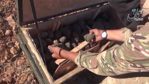 داعش يعرض تسجيلا لسيطرته على أسلحة أسقطتها الطائرات الأمريكية فوق كوباني.. والبنتاغون يحقق