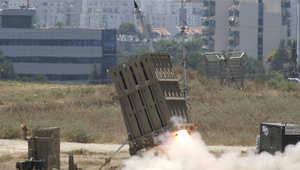 القبة الحديدية تطلق صاروخا لاعتراض صاروخ أطلق على إسرائيل من قطاع غزة