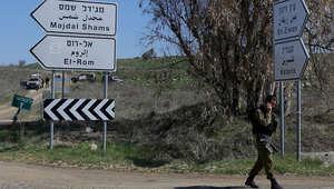 جندي إسرائيلي في أحد المواقع بالجولان