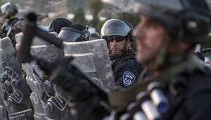 مجموعة من عناصر الشرطة الإسرائيلية في القدس