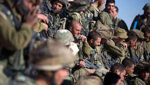 مجموعة من عناصر الجيش الإسرائيلي في أحد التدريبات