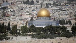 منظر عام لقبة الصخرة في مدينة القدس