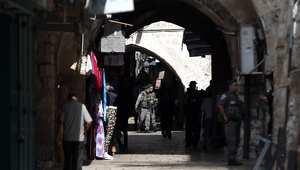 صورة من أحد شوارع المنطقة القديمة بالقدس