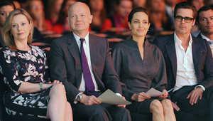 انجلينا جولي في مؤتمر لندن لمنع الاعتداءات الجنسية