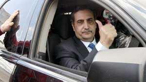 السفير الأردني فواز العيطان بعد وصوله إلى عمان بعدما أفرج عنه خاطفوه في ليبيا