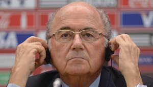 رئيس الاتحاد الدولي لكرة القدم جوزيف بلاتر