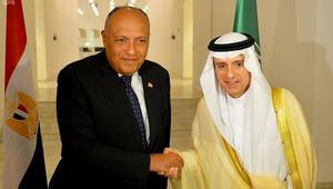 الجبير: مصر والسعودية جناحا المنطقة.. شكري: معا للأمن القومي العربي