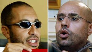 نجلا العقيد الليبي معمر القذافي سيف الإسلام والساعدي