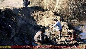 بالصور.. الضابط الطيار الأردني بقبضة داعش بعد سقوط طائرته فوق الرقة