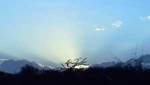 منظر خلاب للطبيعة بأجل صورها.. الشمس وهي تشرق على العاصمة الكينية نيروبي