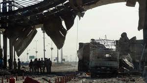 موقع انفجار سيارة مفخخة في كركوك قتل فيه 28 وجرح 25 في 11 يوليو/ تموز 2014