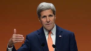 وزير الخارجية الأمريكي خلال مشاركته بمؤتمر في لندن الأسبوع الفائت