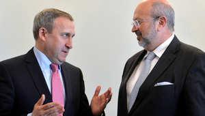 وزير الخارجية الأوكراني مع رئيس منظمة الأمن والتعاون في أوروبا