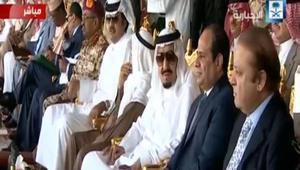 نجل عبدالناصر ينفي انتقاد السعودية بسبب حزب الله.. وصورة للسيسي برعد الشمال إلى جانب الملك سلمان وأمير قطر