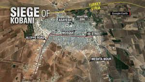 مقاتل داخل كوباني لـCNN: داعش يبعد ما بين 700 متر إلى كيلومتر عن حدود تركيا.. ولا يمكننا وقف التنظيم من الشرق