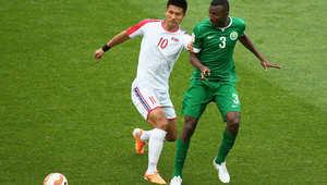 من مباراة السعودية وكوريا الشمالية