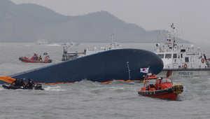 """كارثة السفينة الكورية.. رسائل من تحت الماء و""""صعوبات"""" توقف البحث"""