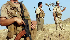 بعض المقاتلين الأكراد خلال المعارك مع داعش