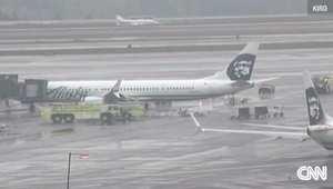 صورة من فيديو للطائرة بعد هبوطها