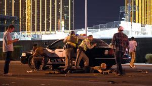 اللقطات الأولى لإطلاق النار في لاس فيغاس