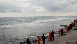 نجل القرضاوي يحمل السيسي مسؤولية مقتل الأقباط لتدخله بليبيا والإخوان يعلقون: داعش والنظام وجهان لعملة واحدة