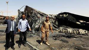 وزير المواصلات الليبي عبد القادر محمد أحمد يتفقد مطار طرابلس بعد الاشتباكات