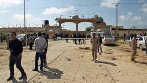تجمع في بنغازي بعد انفجار سيارة استهدف الكلية العسكرية 17 مارس/ آذار