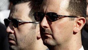 الرئيس السوري بشار الأسد وشقيقه ماهر الأسد في صورة أرشيفية