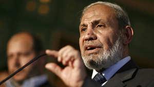 محمود الزهار، القيادي في حركة حماس، خلال مؤتمر صحفي سابق