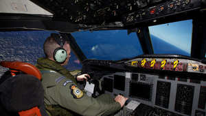صورة من عمليات التفتيش الواسعة عن الطائرة المفقودة
