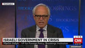 المبعوث الأمريكي السابق للسلام بالشرق الأوسط لـCNN: حكومة إسرائيل بحالة انهيار