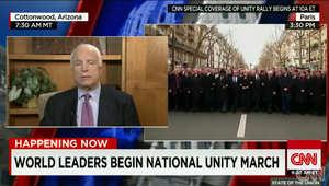 """السيناتور ماكين لـCNN: داعش ينتصر.. البغدادي زعيم التنظيم لم يكن يمزح حين قال """"سنراكم في نيويورك"""" بعد الافراج عنه في العراق"""