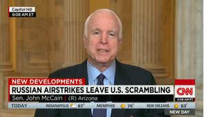 """ماكين لـ CNN: بعض الغارات الروسية في سوريا تستهدف مقاتلين مدعومين من أمريكا.. وعلى أوباما أن يستيقظ لمواجهة """"الديكتاتور"""" بوتين"""
