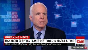 ماكين عن الضربة الأمريكية بسوريا: بداية جيدة والأسد سيُخلع بأيدي السوريين