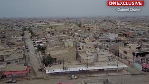 حصرياً.. لقطات من طائرة بدون طيار للدمار في غرب الموصل