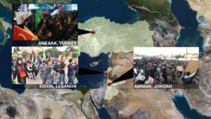 مظاهرات في أنقرة وصيدا وعمّان ضد إعلان القدس عاصمة لإسرائيل