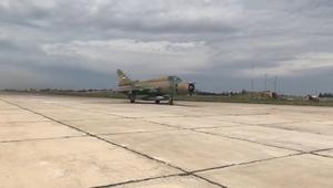 شاهد عودة إقلاع الطائرات في مطار الشعيرات السوري