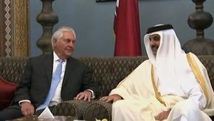 أمير قطر يستقبل وزير خارجية أمريكا بالدوحة