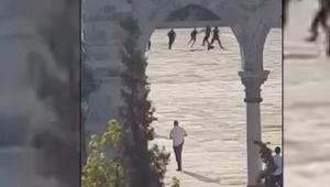 لقطات تبادل إطلاق النار بين مسلحين والشرطة الإسرائيلية