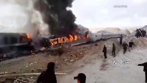 إيران: ارتفاع عدد قتلى حادث القطارين إلى أكثر من 40 شخصاً