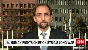 زيد بن رعد: قصف حلب تنطبق عليه معايير جرائم الحرب