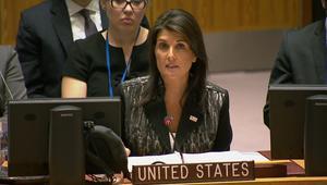 شاهد.. هايلي توبخ روسيا وأعضاء الأمم المتحدة حول سوريا: هذه مهزلة
