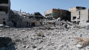 فيديو حصري يظهر الدمار غرب الرقة