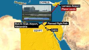 شاهد.. مختصر ما حدث للطائرة المصرية المخطوفة