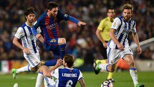 """برشلونة ينتصر على سوسيداد بصعوبة قبل """"الكلاسيكو"""""""