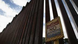 السلك الشائك بين المكسيك والولايات المتحدة الأمريكية