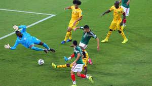 هدف بيرالتا يمنح التقدم للمكسيك أمام الكاميرون