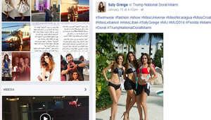 """بالصور.. حرب بين ملكتي جمال لبنان وإسرائيل في أمريكا بسبب """"صورة سيلفي"""""""