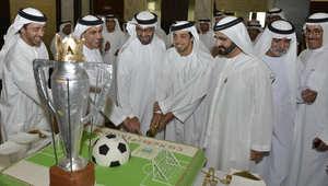 محمد بن راشد يحتفل بفوز السيتي بالدوري الإنجليزي الممتاز